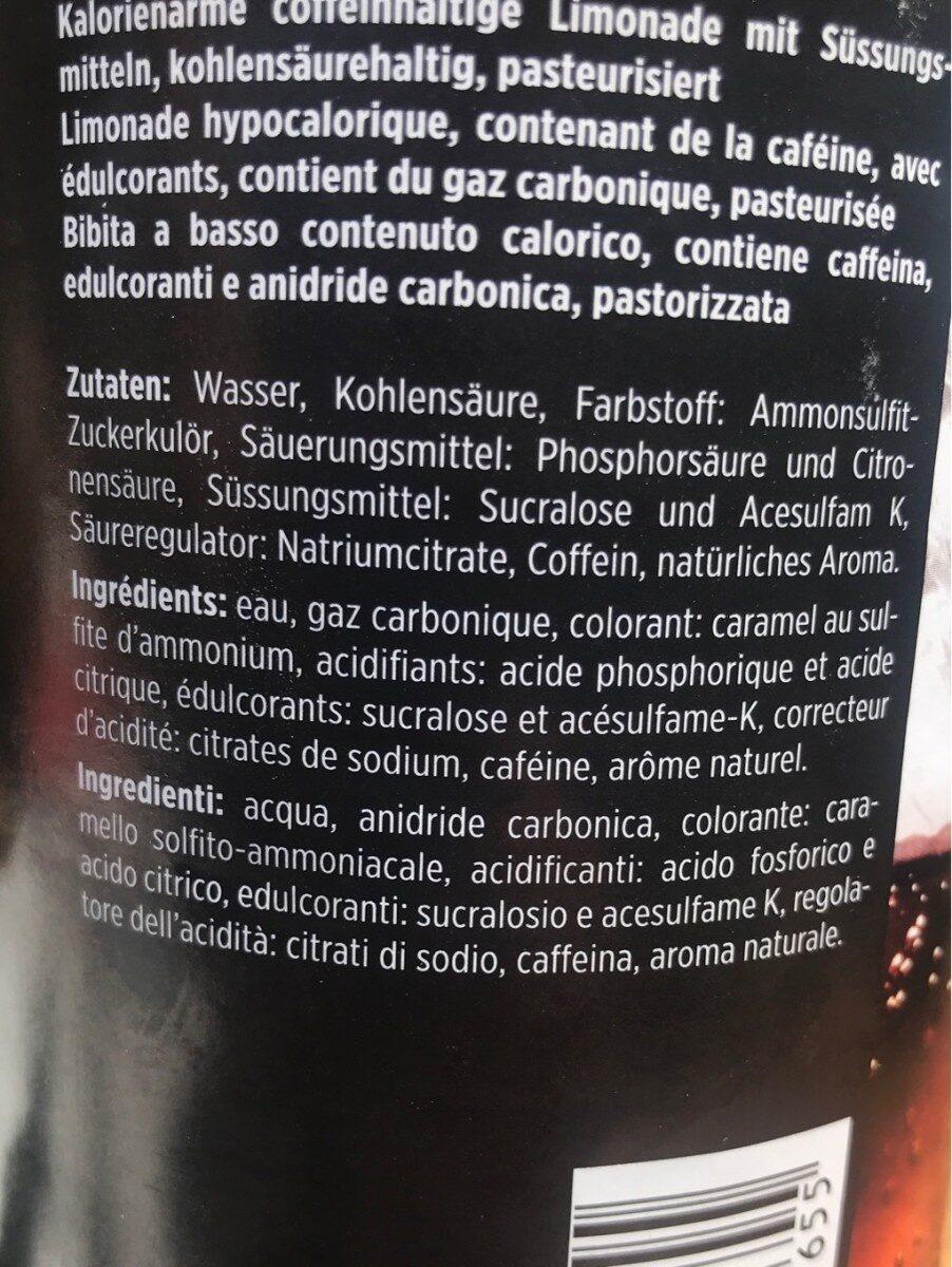 Cola zero - Nutrition facts - fr