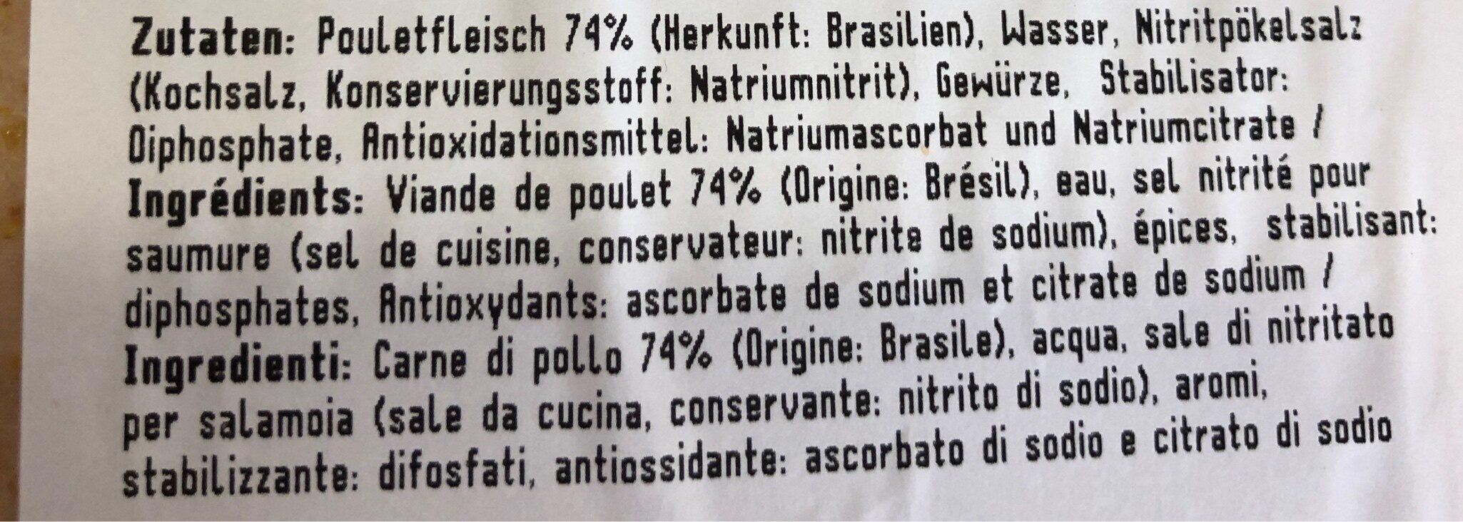 Poulet Brust Indisch - Ingredients - fr