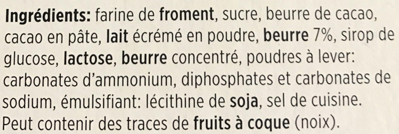 Petit Beurre au chocolat au lait - Ingrédients - fr