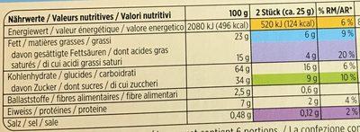 Petit Beurre au chocolat au lait - Informations nutritionnelles - fr
