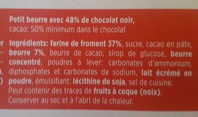 Petit beurre au chocolat noir - Ingrédients - fr