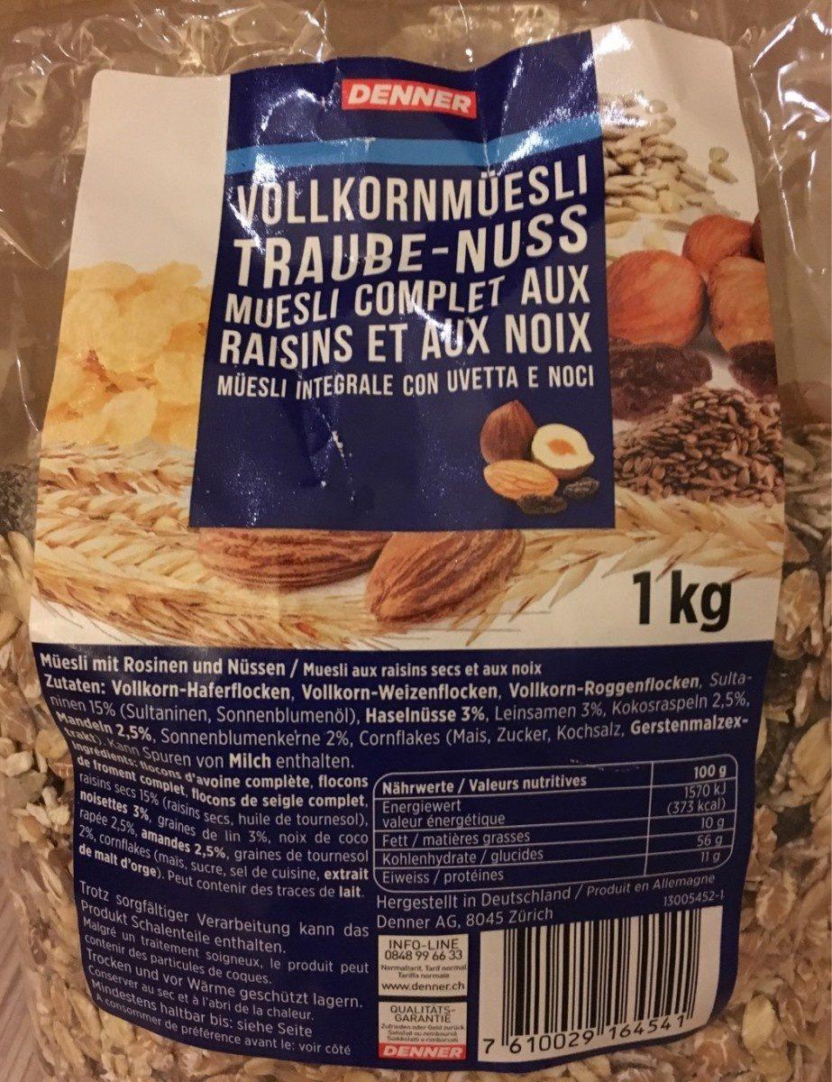 Muesli complet aux raisins et aux noix - Product - fr