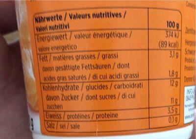 Yogourt à la mandarine - Nutrition facts - fr