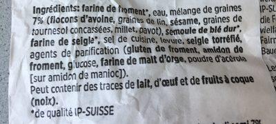 Brot Rustico - Ingredients - fr