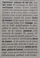 Fiori pesto rosso - Ingrédients