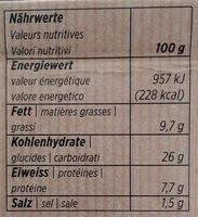 Fiori pesto rosso - Informations nutritionnelles