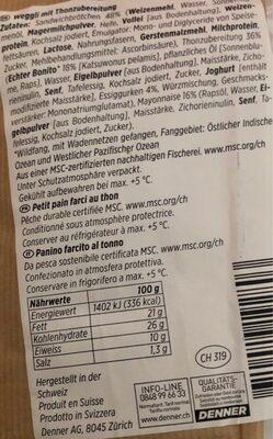 Mmmh - Informazioni nutrizionali - de
