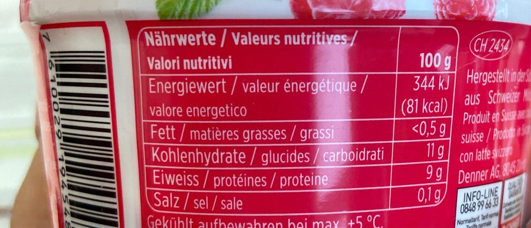 Skyr Framboise - Informations nutritionnelles - fr