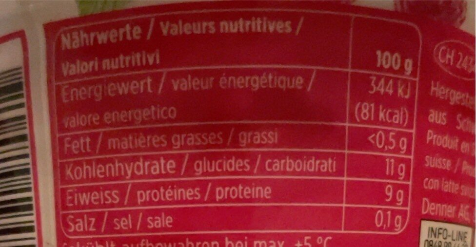 Skyr Framboise - Nutrition facts - fr