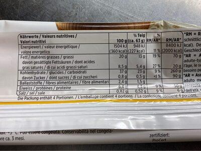 Pâte à gâteau à l'épeautre - Nutrition facts - fr