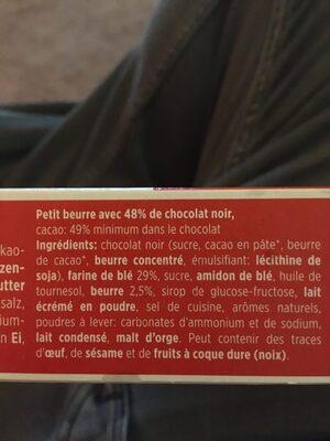 Petit beurre - Ingredients - fr