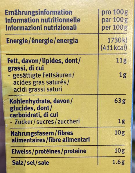 Dar Vida nature - Valori nutrizionali - fr