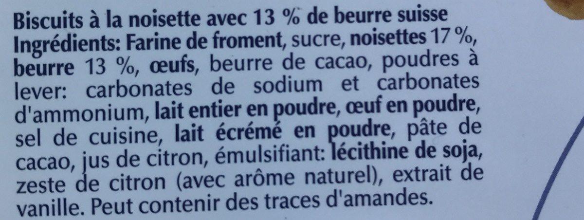 Cœurs Noisettes - Ingredienti - fr