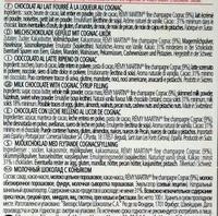 Larmes de Cognac - Ingredients