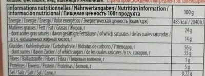 Larmes de Poire Williams - Voedingswaarden - fr