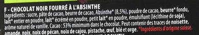 Larmes d'Absinthe Noir - Ingrediënten - fr
