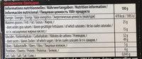 Larmes d'Absinthe Noir - Voedingswaarden - fr