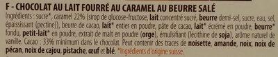 Chocolat Lait Caramel au beurre salé - Ingredienti - fr