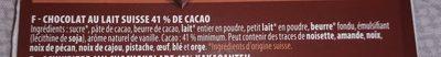 Chocolat suisse fusion l'ait et noir - Ingredients