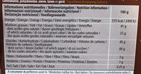 Chocolat suisse fusion l'ait et noir - Nutrition facts