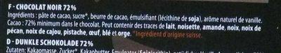 Chocolat Noir 72 % - Ingredients