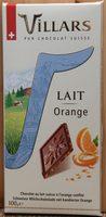 Chocolat Lait Orange - Product