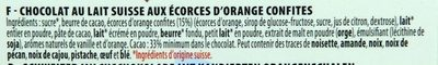 Chocolat Lait Orange - Ingredients