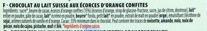 Chocolat Lait Orange - Ingredients - fr