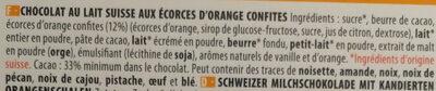 Chocolat Lait Orange - Ingrédients - fr