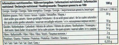 Chocolat Lait Orange - Nutrition facts