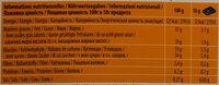 Chocolat Lait Orange - Informations nutritionnelles - fr