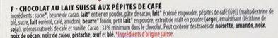 Chocolat Lait Café - Ingredients