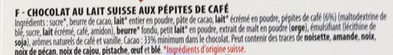Chocolat Lait Café - Ingredients