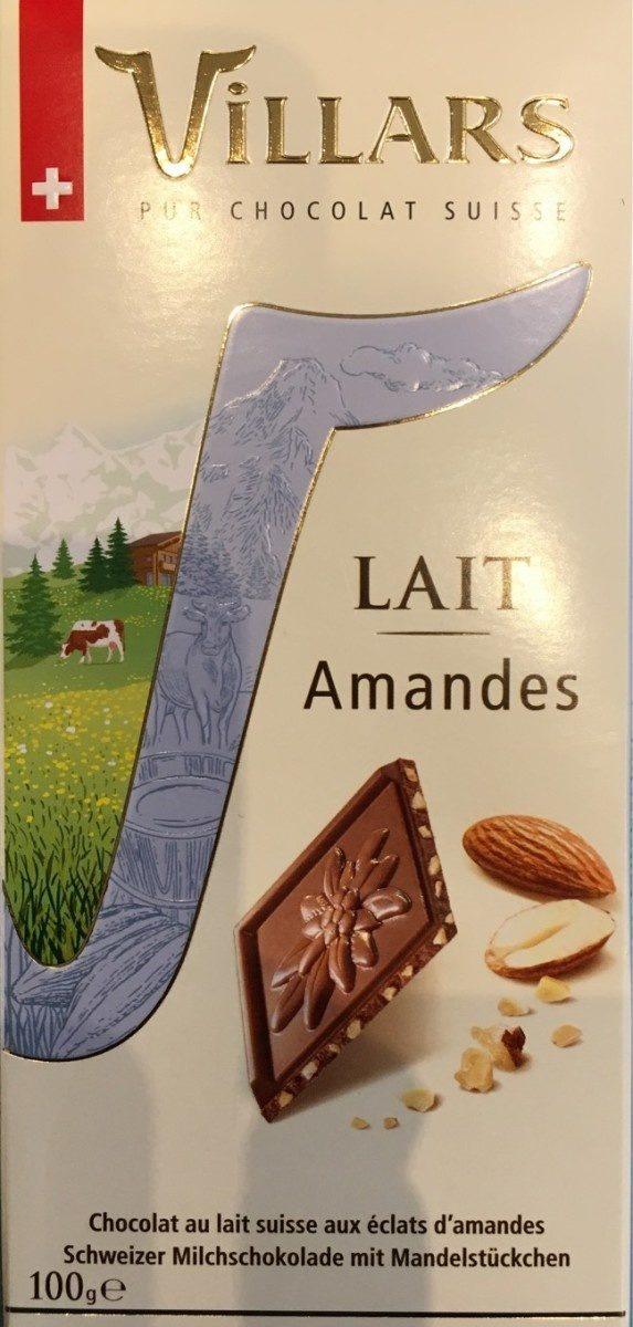 Chocolat lait amandes - Product
