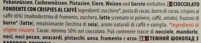 Chocolat Noir Café - Ingredienti - it