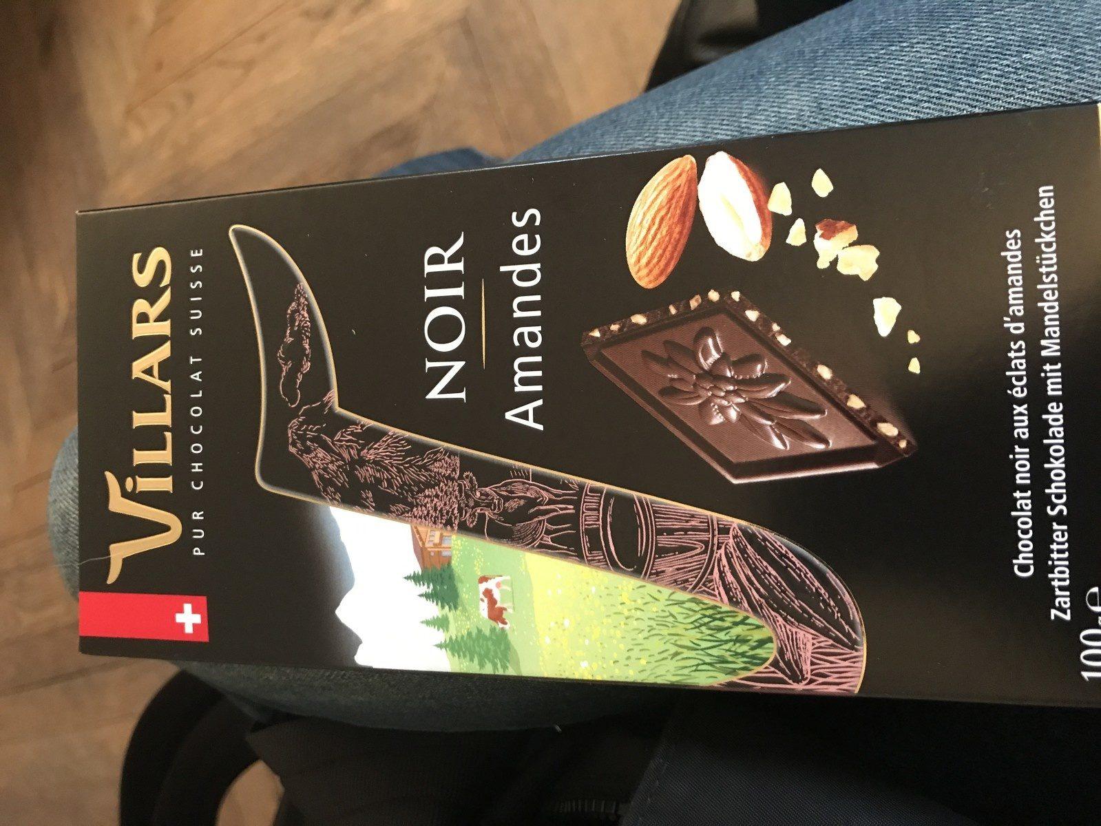 PUR CHOCOLAT SUISSE NOIR Amandes - Ingredientes - fr