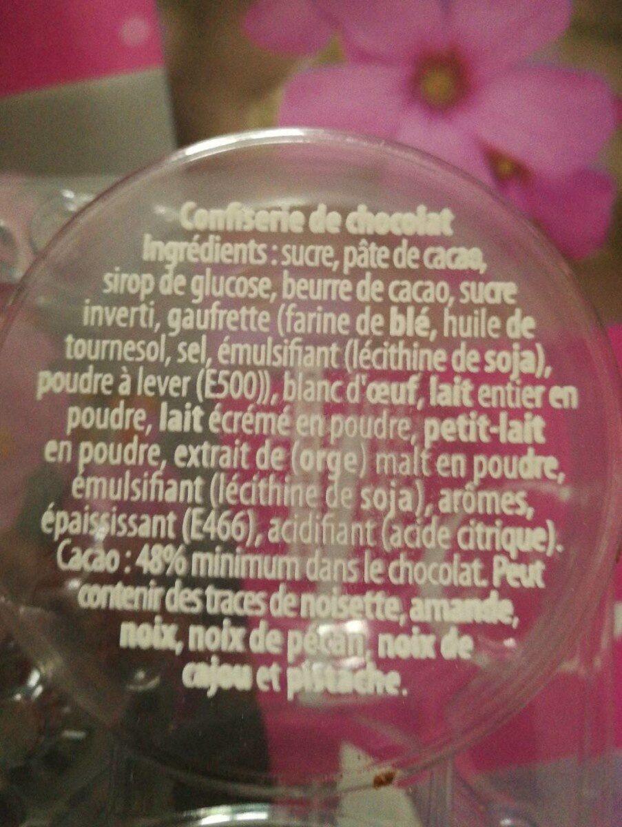 Tête de choco mi-amer - Ingredients