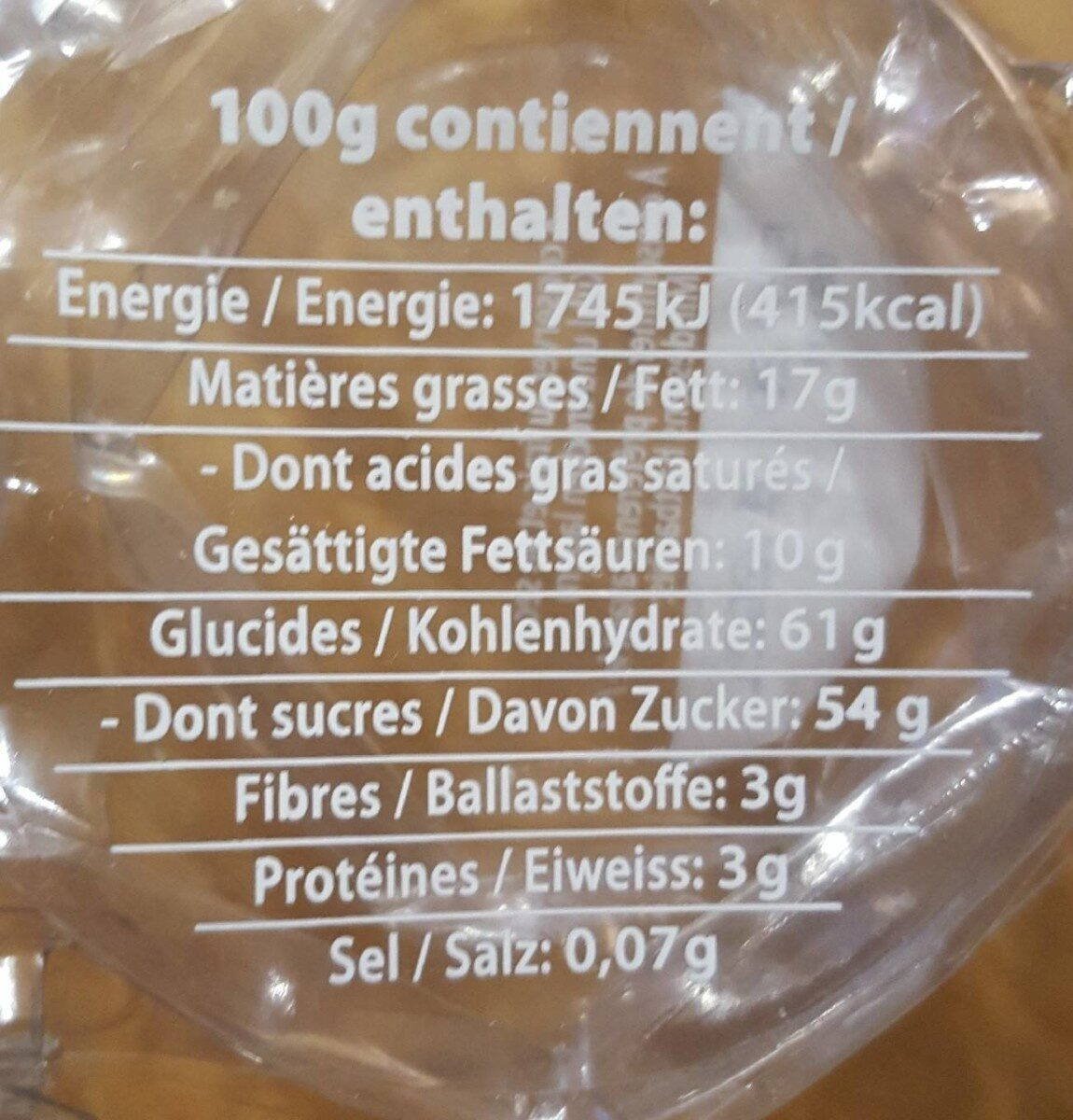 Têtes de choco - Nutrition facts - fr