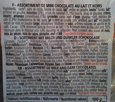 Assortiment de minis chocolats lait et noir - Ingredienti - fr