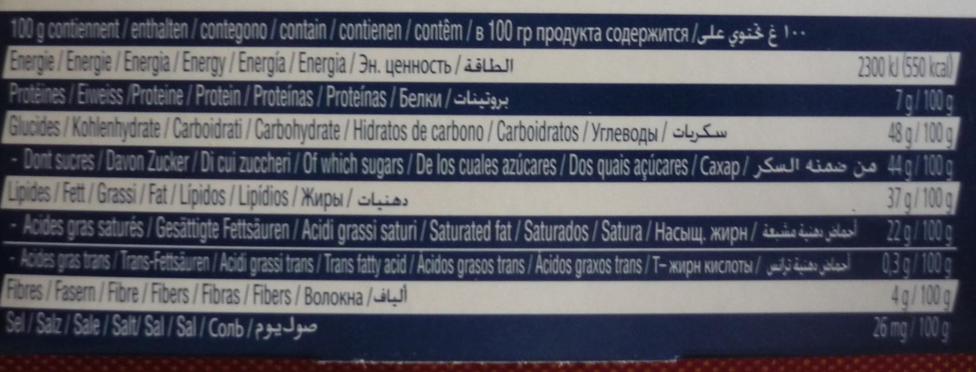Les Minis Chocolats Lait & Noir Assortis - Informação nutricional - fr