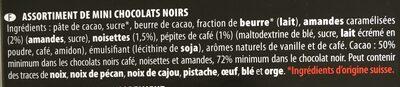 Les mini chocolats Noirs assortis Villars 250 gr, 1 Paquet - Ingrédients - fr