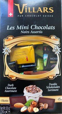 Les mini chocolats Noirs assortis Villars 250 gr, 1 Paquet - Informations nutritionnelles - fr