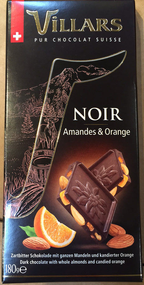 Chocolat noir amandes & orange - Product