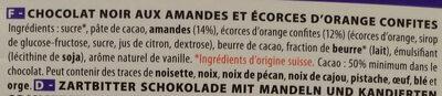 Chocolat noir amandes & orange - Ingrediënten - fr