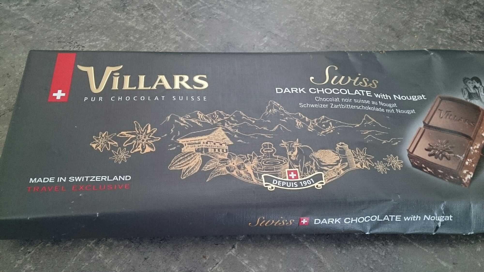 Chocolat noir suisse au nougat - Product