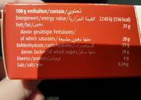 Wernli Biscuit Chocofin 100 Gr - Nutrition facts - fr