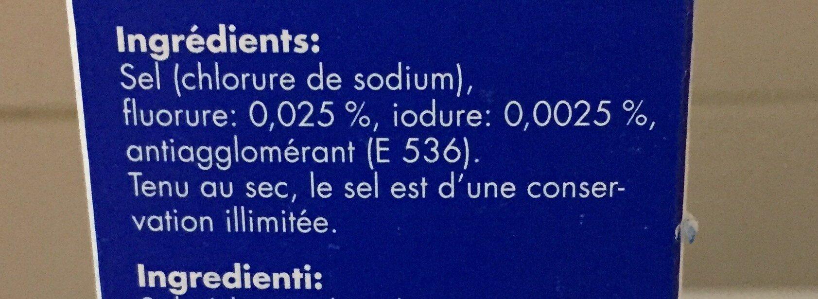 Sel de cuisine / speisesalz - Ingrédients - fr