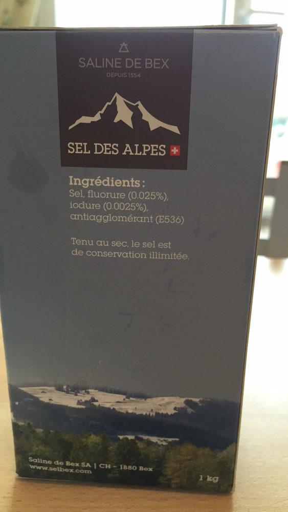 Sel des Alpes - Ingrediënten