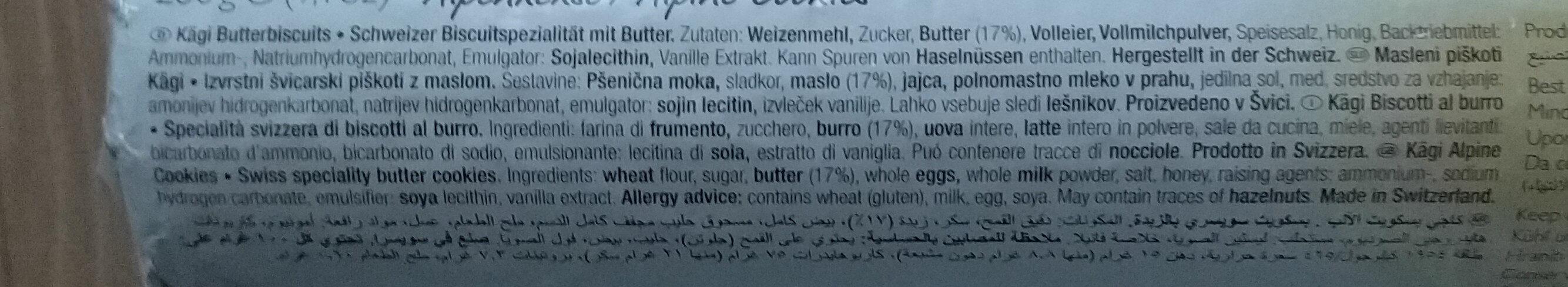 Biscuit au beurre - Inhaltsstoffe - de