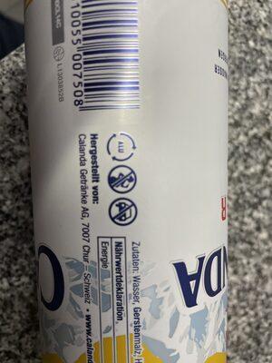 calanda lager - Istruzioni per il riciclaggio e/o informazioni sull'imballaggio - de